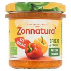 Zonnatura Groentespread paprika (135 gram)