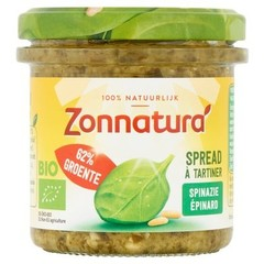 Zonnatura Groentespread spinazie (135 gram)