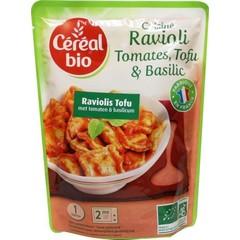 Cereal Ravioli tofu tomaat basilicum (267 gram)