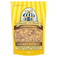 Bakery On Main Rainforest granola banaan paranoot (340 gram)