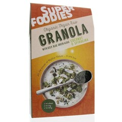 Superfoodies Raw granola coconut & spirulina (200 gram)