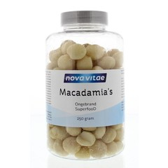 Nova Vitae Macadamia ongebrand raw (250 gram)