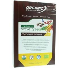 Organic Food Bar active green covered probiotica 68 gram (12 stuks)