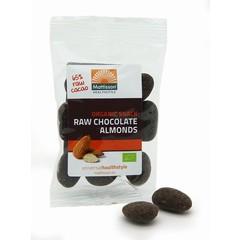 Mattisson Amandelen snack raw puur chocolade (35 gram)