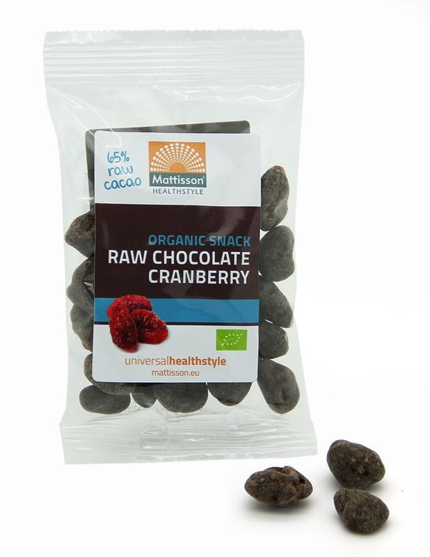 Mattisson Mattisson Cranberries snack raw chocolate (35 gram)