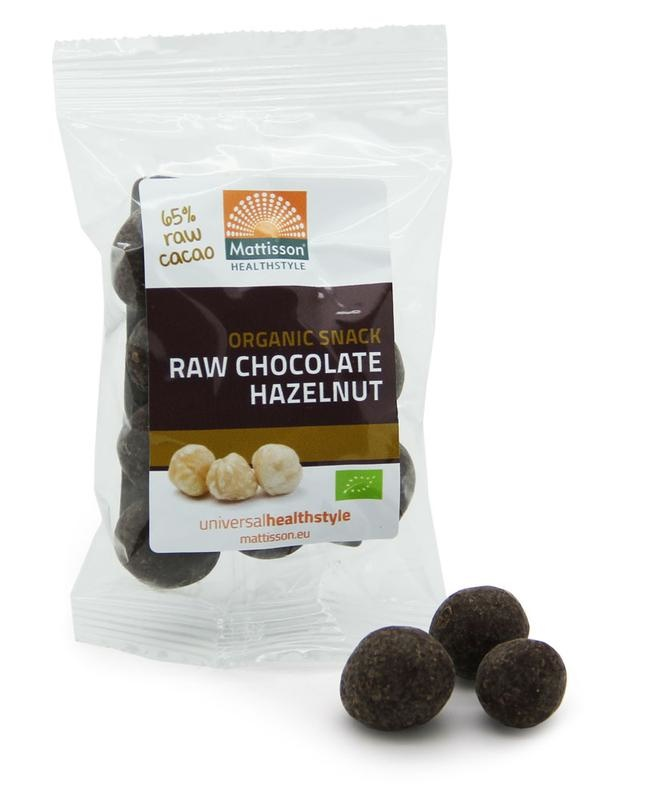 Mattisson Mattisson Hazelnoten snack raw chocolate (35 gram)