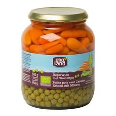 Ekoland Doperwten zeer fijn wortel extra fijn (680 gram)