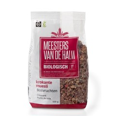 De Halm Muesli krokante muesli bosvruchten (500 gram)
