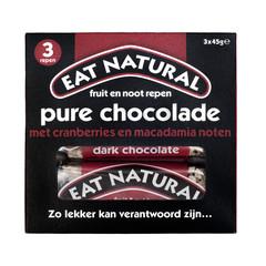 Eat Natural Pure chocolade cranberry macadamia 45 gram (3 stuks)