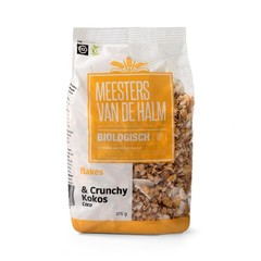 De Halm Flakes crunchy kokos (375 gram)