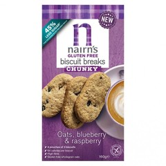 Nairns Breakfast biscuit blueberry & raspberry (160 gram)
