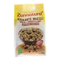 Zonnatura Krokante muesli haver pure chocolade (375 gram)