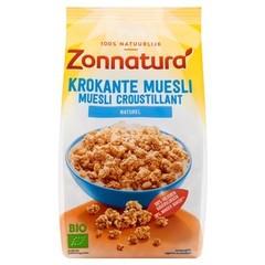 Zonnatura Krokante muesli haver naturel (375 gram)