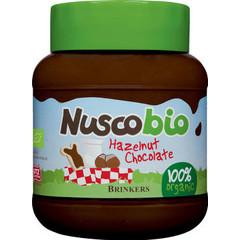 Brinkers Nuscobio hazelnootpasta (400 gram)