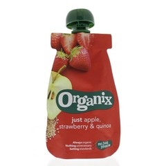 Organix Just apple strawberry quinoa 6-36 maanden (100 gram)