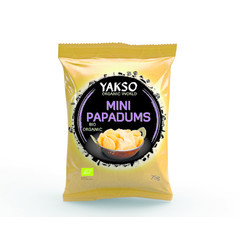 Yakso Mini papadums (75 gram)