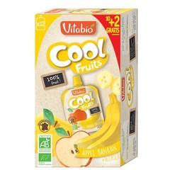 Vitabio Coolfruit appel-banaan 90 gram (12 stuks)