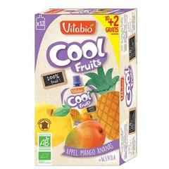 Vitabio Coolfruit appel mango ananas 90 gram (12 stuks)