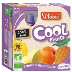 Vitabio Coolfruit appel mango ananas 90 gram (4 stuks)
