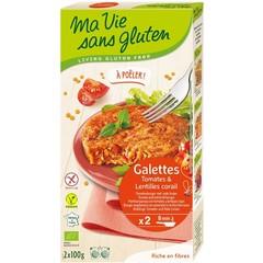 Ma Vie Sans Tomaatburger met rode linzen bio - glutenvrij 100g (2 stuks)