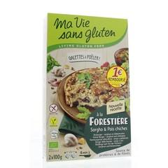 Ma Vie Sans Champigonburger kikkererwten bio - glutenvrij 100g (2 stuks)