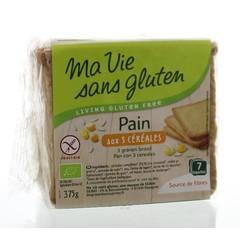 Ma Vie Sans Brood 3 granen bio - glutenvrij (375 gram)