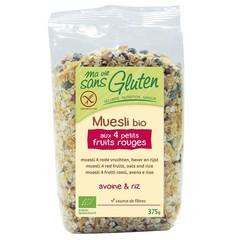 Ma Vie Sans Muesli haver / rijst 4 rode vruchten glutenvrij (375 gram)