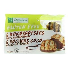 Damhert Kokosrotsen chocolade glutenvrij (250 gram)