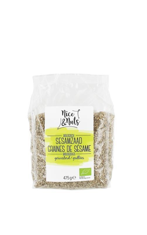 Nice & Nuts Nice & Nuts Sesamzaad geroosterd (475 gram)