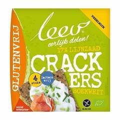 Leev Bio lijnzaad boekweit cracker glutenvrij (110 gram)