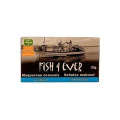 Fish 4 Ever Schotse makreel bronwater (125 gram)