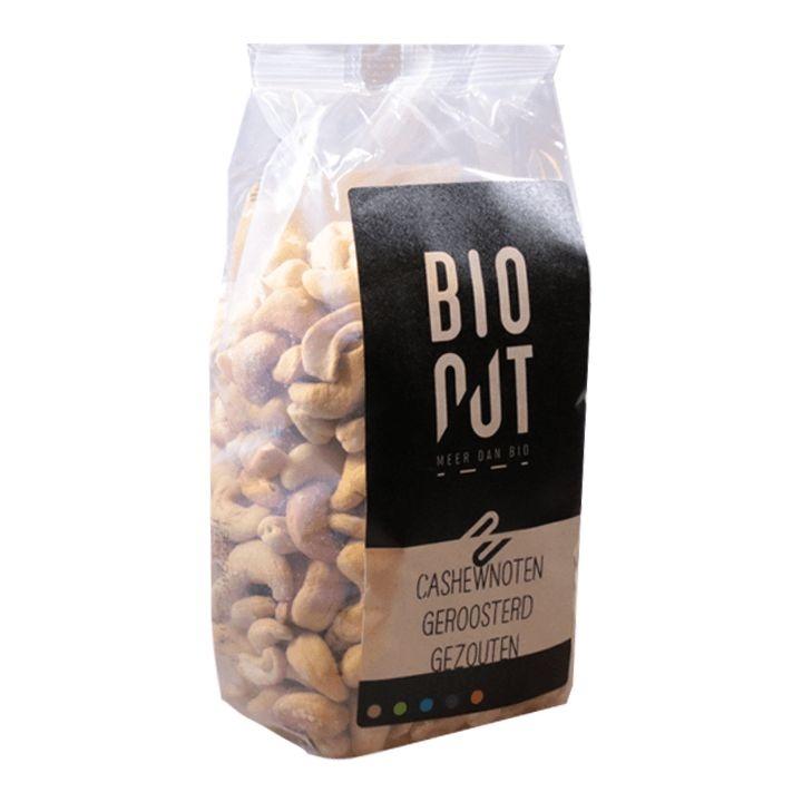 Bionut Bionut Cashewnoten geroosterd gezouten (500 gram)