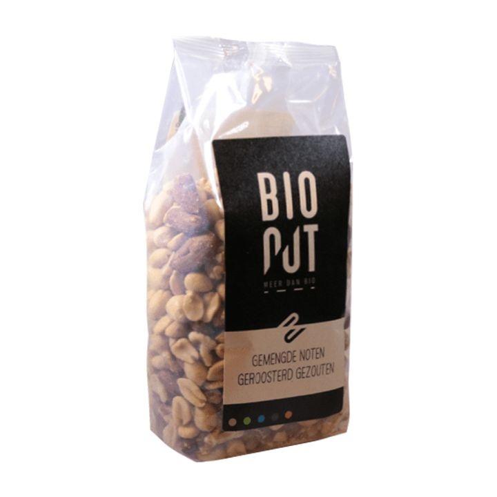 Bionut Bionut Gemengde noten geroosterd en gezouten (500 gram)