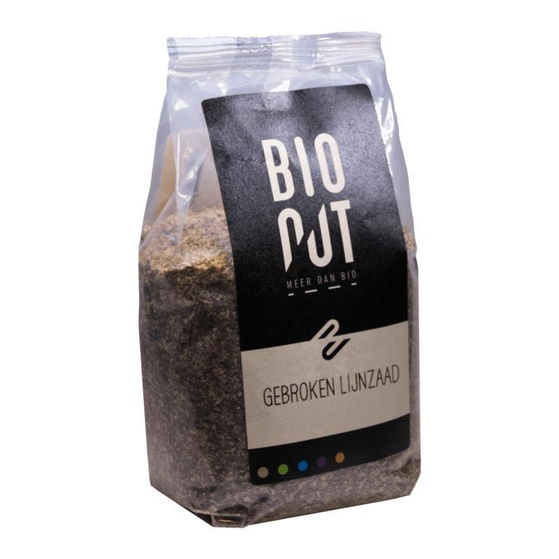 Bionut Bionut Lijnzaad gebroken (375 gram)