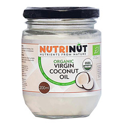 Nutrinut Kokosolie virgin bio in glas (200 ml)