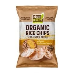 Rice-Up Rijst chips gierst & zonnebloempitten (25 gram)