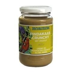 Horizon Pindakaas crunchy met zeezout eko (350 gram)
