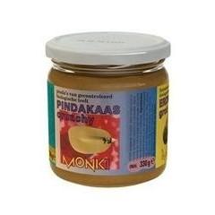Monki Pindakaas crunchy met zout eko (330 gram)