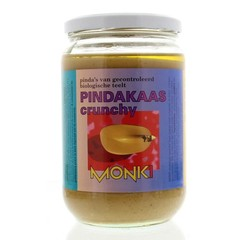 Monki Pindakaas crunchy met zout eko (650 gram)