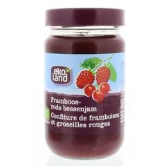 Ekoland Framboos rode bes jam (375 gram)