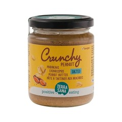 Terrasana Pindakaas crunchy met zeezout (250 gram)