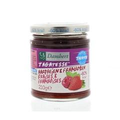 Damhert Dieetconfituur aardbei/framboos (210 gram)