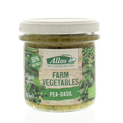 Allos Farm vegetables doperwten & basilicum (135 gram)