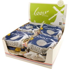 Leev Bio choco maiswafel melk 32 gram (12 stuks)