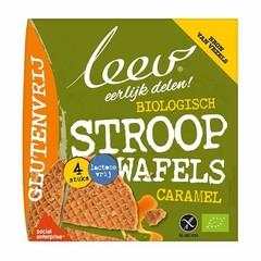 Leev Bio stroopwafels caramel glutenvrij (120 gram)