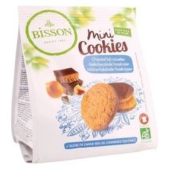 Bisson Mini cookies melkchocolade hazelnoot (120 gram)