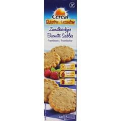 Cereal Zandkoekjes framboos glutenvrij (120 gram)
