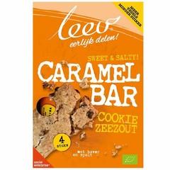 Leev Bio cookiebar karamel & zeezout (140 gram)