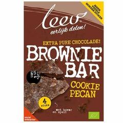 Leev Bio cookiebar brownie, pecan & granen (140 gram)