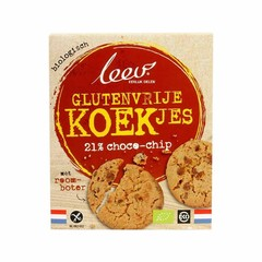 Leev Bio chocochip koekjes glutenvrij (120 gram)